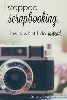 I finally found the solution to time consuming scrapbooks and photo books. Chatbooks to the rescue!