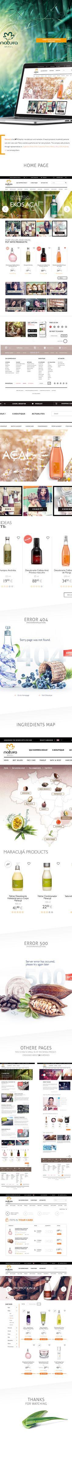 Natura Brasil Website & Shop by Karol Kos, via Behance Website Design Layout, Web Layout, Layout Design, Food Web Design, Solar Filter, Cosmetic Design, Ui Web, Web Design Inspiration, Graphic