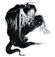 Final Fantasy II - Wizard Concept Art - Yoshitaka Amano