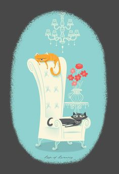 Posh Cats by Franklin Mill, via Behance