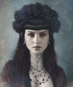 Tom Bagshaw -Katherine- hand embellished one off digital painting, mounted on board, varnished and framed, 10 x 12 inches, on view at Last Rites Gallery Bizarre Kunst, Bizarre Art, Character Inspiration, Character Art, Dark Beauty, Caricatures, Oeuvre D'art, Dark Art, Female Art