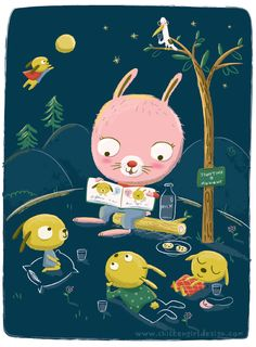 Storytime at Midnight by Jannie Ho.  This art is part of the Bedtime Stories show presented by Joey Chou & Friends at Leanna Lin's Wonderland.