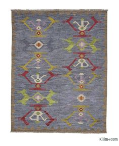 Lilac Overdyed Vintage Turkish Rug By Bazaarbayar On Etsy
