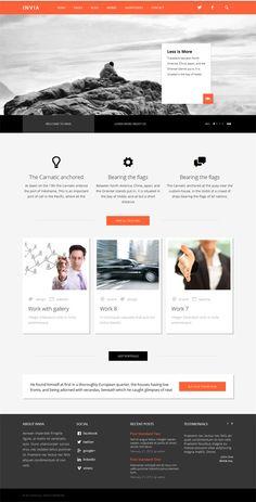 INVIA, WordPress Responsive Orange Business Theme