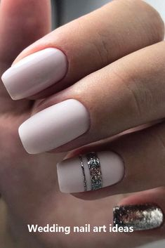 30 Perfect Bridal Nails Art Designs Whichever type of bride you are. If you are still searching for the perfect bridal nails design, pull totally fresh inspiration from our wedding gallery. Natural Wedding Nails, Simple Wedding Nails, Natural Gel Nails, Simple Nails, Bridal Nails Designs, Bridal Nail Art, Wedding Nails Design, Wedding Nails Art, Gel Nagel Design