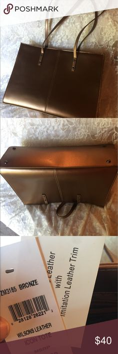 Wilson Leather large bronze handbag Bronze, simple, elegant large bag. Wilson Leather Bags