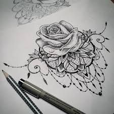 Image result for mandala rose tattoo