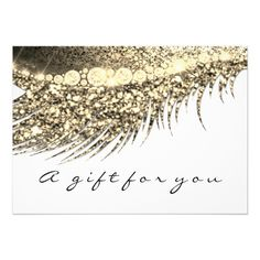 Gift Certificate White Gold Lash Beauty Makeup Card Custom #babyshower invitations - Make your special day with these personalized #baby #shower #invitations change the colors font and images and make them your own.