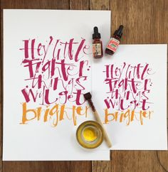 Automatic pen calligraphy by Kirsten Burke.