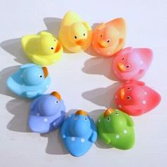 Rubber Duck Bathroom, Baby Shower Yellow, Rainbow Theme, Barbie Dream House, Baby Sensory, Kids Bike, Bath Toys, Unique Baby, 3rd Birthday