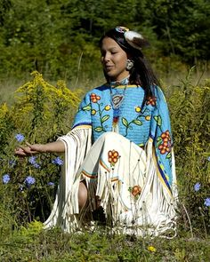 Ojibwe woman. Beautiful and stunning on many levels.