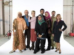 """Zarqa Nawaz, center, and the cast of """"Little Mosque on the Prairie."""""""