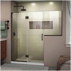 Bathtub Doors, Frameless Shower Doors, Walk In Shower Doors, Small Bathroom, Master Bathroom, Bathroom Ideas, Shower Ideas, Bathroom Renovations, Natural Bathroom