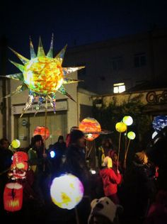 Bedminster's #TownTeam and their lantern parade in December