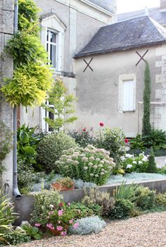 Le Puy Notre Dame  Garden - stayed at this house actually.  My window was that upper window.