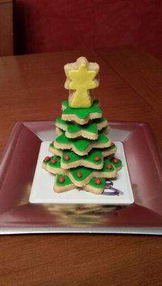 Arbolito de galletas para poner en el centro de la mesa!
