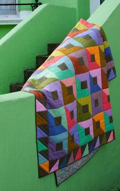 Getting Stitched on the Farm: Kaffe Fassett Shots and Stripes Quilt Book. Lots of pretty solids in this one.