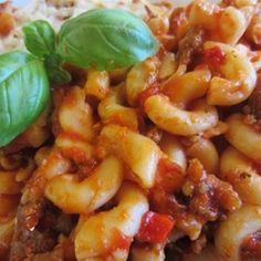 "Elbows and Ground Beef | ""Elbow pasta with ground beef, bell pepper ..."