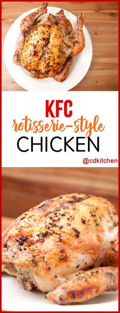 Copycat Kfc Rotisserie Style Chicken - Kfc May Be Known For Fried Chicken It Is In Their Name, After All But Don't Knock Their Rotisserie Until You Try It. Or on the other hand Try The Copycat, At Least. Kfc Bowls Recipe, Kfc Gravy Recipe, Kfc Chicken Recipe, Baked Chicken Recipes, Fried Chicken, Recipe Spice, Rotisserie Chicken Seasoning, Chicken Roaster, Entree Recipes