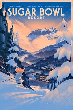 2014 · Sugar Bowl Resort Anniversary Poster