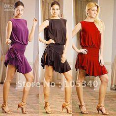 Wholesale coats New Elegant Tight Waist Latin Salsa Tango Ballroom Dance Dress 3 Colors A239, Free shipping, $80.48-82.58/Piece | DHgate