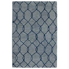 Kaleen Casablanca CAS02-17 Blue Wool Area Rug....online at lampsplus