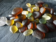 Rich autumn shades of sea glass by jazomir on Etsy, $11.00