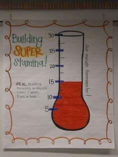 Stamina! A visual for independent reading at the beginning of the year! Color in the longer we can read!