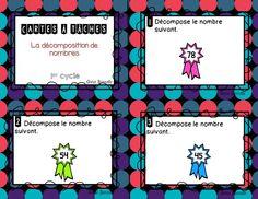 Ce document inclus: - 27 cartes à tâches - Le corrigé en 2 versions différentes - Une feuille réponse  Notions abordées: La décomposition d'un nombre de différentes manières. Le nombre d'unités et de dizaines dans un nombre.