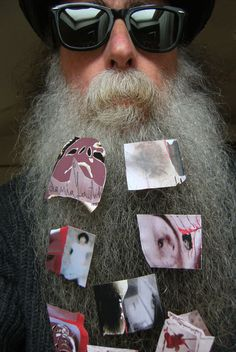 BEARD GALLERY - Opere di Dania Gentili installate sulla mia barba (Galleria Pensile)