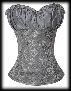 Victorian Pastel Goth Silver Grey Corset | Women's Gothic
