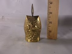 """Owl Brass Bell Vintage Small 4"""" Figurine Made in India.epsteam by retroricks on Etsy"""