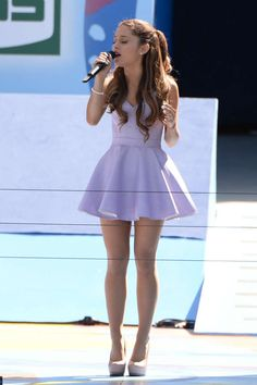 Ariana gives a concert for Arthur Ashe Kids Day at the US Open on August 24, 2013. Getty Images -Cosmopolitan.com