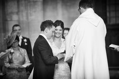 wedding ceremony at Peterborough cathedral