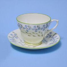 Sutherland Teacup and Saucer Fine Bone China 1950's England
