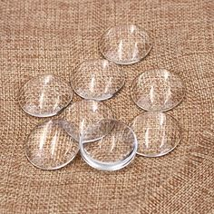100 Pcs Glass Dome Cabochons Gemstone Clear Round Tiles Cameo (30mm) Material: Glass, Color: Clear Dome diameter: 1.2 inch/ 30 mm; Dome height: 7 mm Non-calibrated round glass dome cabochon in clear color   #jewelry Glass Domes, Loose Gemstones, Tiles, Cool Stuff, Color, Beautiful, Jewelry, Wall Tiles, Cool Things