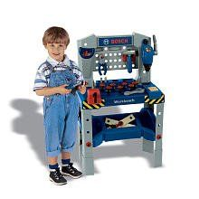 Theo Klein Bosch Adjustable Height Toy Workbench With Sound -- This is an Amazon Affiliate link. Click image for more details.