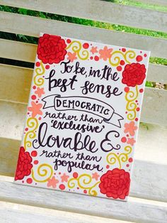 Hand painted Quote Canvas done by me! I am a busy college student so depending on my crazy schedule some orders may take longer than others but I