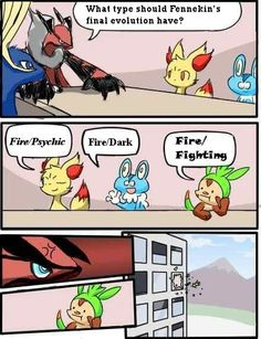 LOL yes this needs to happen!!! They need to throw Chespin out!!!! and put in a triceratops grass pokemon or anything else!!! Besides Blaziken is the only FIRE/FIGHTING pokemon that made type epic! Emboar ruined it!!!!!