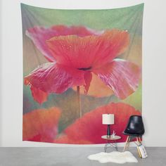 #walltapestry #society6 #poppy #purple #maryberg #summer #orange #red #green #homedesign #contemporary