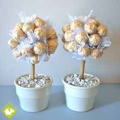 sweet trees - a table decoration Candy Topiary, Candy Trees, Chocolate Flowers Bouquet, Bar A Bonbon, Sweet Carts, Sweet Trees, Candy Crafts, Diwali Gifts, Dinner Themes