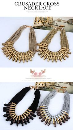 Skinny Gold Color Metal Stitching Decorated Multilayer Design Alloy Korean Necklaces,Korean Necklaces  http://www.asujewelry.com