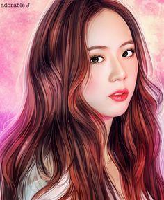 Lisa Blackpink Wallpaper, Girl Wallpaper, Rose Wallpaper, Cute Animal Drawings Kawaii, Cute Drawings, Pink Drawing, Blackpink Poster, Portrait Cartoon, Kpop Drawings