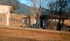 Old Adobe House 9, outside of Taos, New Mexico, in the high desert.  http://fineartamerica.com/featured/old-adobe-house-9-tamara-kulish.html