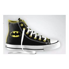 Batman converse ❤ liked on Polyvore featuring batman and shoes