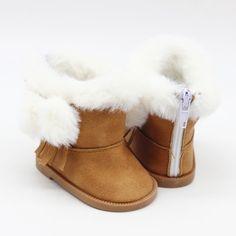 f5beccbaf840b 1 paire BJD En Peluche D hiver bottes de neige Pour 43 cm Bébé Poupées