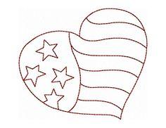 Patriotic Whimsy No 11 Hand Embroidery  - via @Craftsy