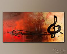 Music Art: Jazz, Symbols, Contemporary and Modern Paintings, Landscapes and other Abstract Art Paintings for Sale by CGuedez. The Pause...