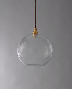 Clear open globe glass light shade 250mm for pendant lighting commercial lighting hereford clear glass globe pendant light aloadofball Choice Image