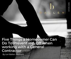 Five Things a Homeowner Can Do To Prevent Rip Off with a General Contractor